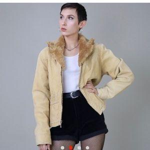 Vintage Faux shearling jacket!